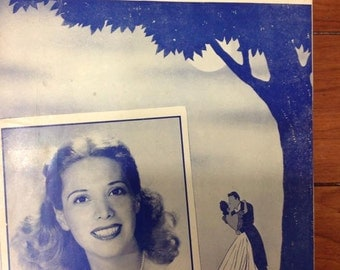"Vintage Sheet Music - ""Forever And Ever"" recorded by Dinah Shore on Columbia Records -antique score"