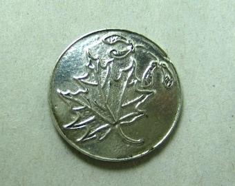 Vintage Christina Pewter Oak Leaf Button