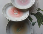 Vintage Trinket Dishes * Three Small Vintage Dishes * Japanese Pottery Plates *