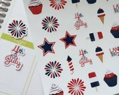 July 4th Planner Stickers Holiday Stickers