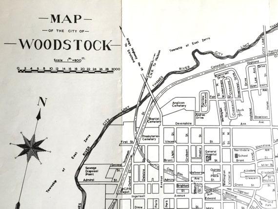 Map Of Woodstock Ontario