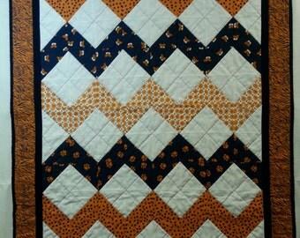 Collegiate Chevron Quilt Pattern