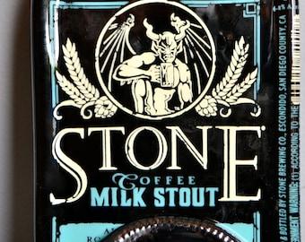 Stone IPA Gargoyle Coffee Milk Stout Slumped  Bottle