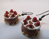 VALENTINES DAY Strawberry Cake Earrings