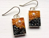 Custom Order: Pearl, Amber, Carnelian and Labradorite Mosaic Earrings