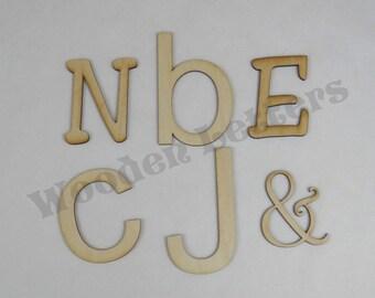 Laser Cut Wooden Letters 1/8 inch
