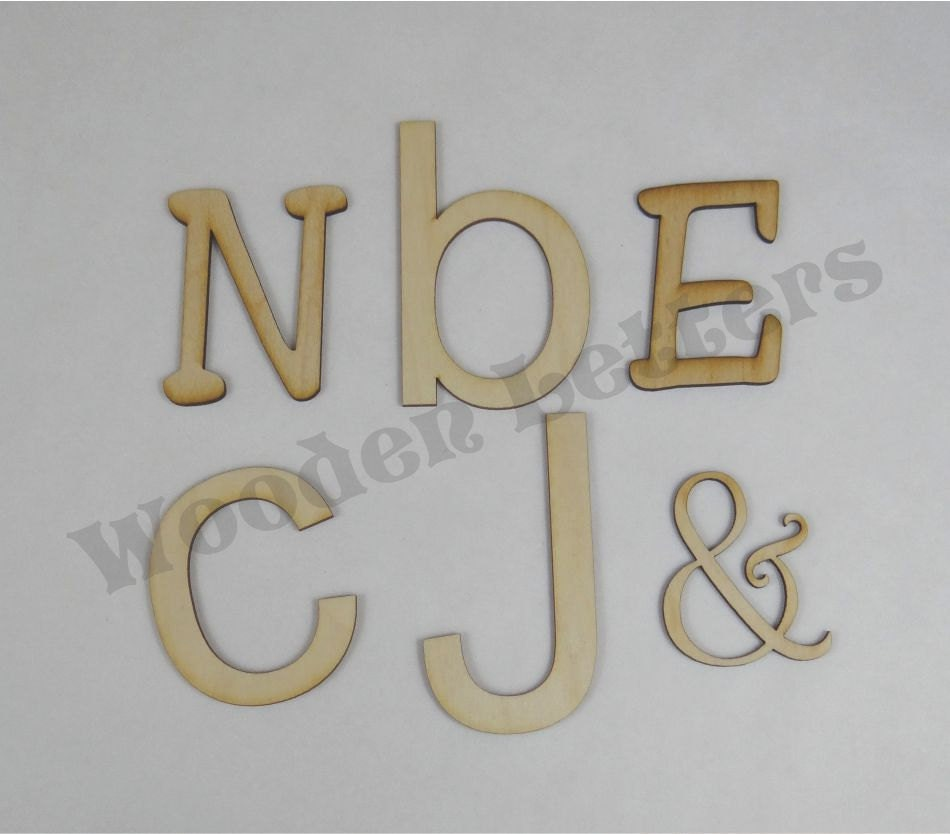 1 Inch Letters Laser Cut Wooden Letters 1 8 Inch
