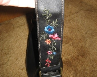 Vintage Faux Leather Purse with Embroidery