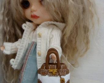 Blythe Designer Barbie Purse for Blythe, Barbie and Pullip
