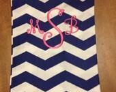 Add monogram to infinity scarf, add personalization to scarf