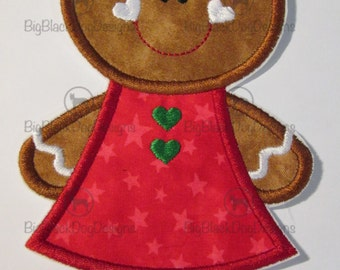 Gingerbread Girls for Christmas - Iron On Appliques