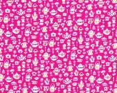Liberty Fabric Suzy Elizabeth D Hot Pink Tana Lawn Fat Quarter