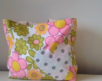 Vintage Fabric Market Tote/ Beach Bag/ Handbag