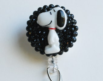 Snoopy ID Badge Reel - RN ID Badge Holder - Zipperedheart