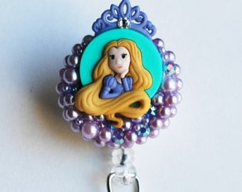 Princess Repunzel From Disney's Tangled ID Badge Reel - RN ID Badge Holder - Zipperedheart