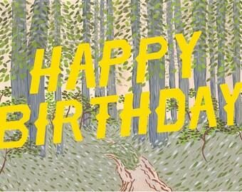 Happy Birthday Forest Card
