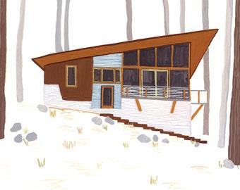 Modern Cabin Card