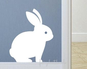 Bunny Rabbit decal, nursery wall decals, Easter bunny decals, bunny sticker, vinyl rabbit decal, vinyl animal sticker, easter bunny decals