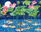Cirebon Pond:  watercolour digital print on photographic poster paper - 2 x pieces