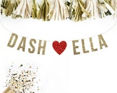 Custom Engagement Banner, Wedding Garland. Wedding Shower. Bachelorette Party. Hen Party. Glitter Banner