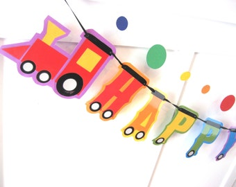Train Birthday Banner, Train Engine Birthday Banner, Train Birthday Party Banner, Train Birthday Party Supplies, Train Party Decor