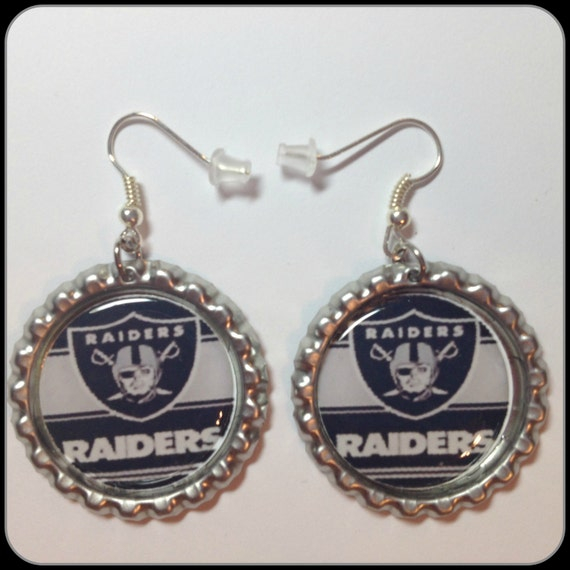 oakland raiders earrings unique custom made by