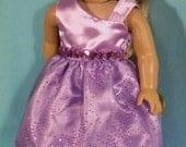 18 inch  Doll Lavender Princess Dress