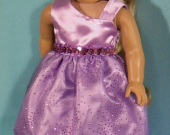 18 inch  Doll Lavender Princess Dress