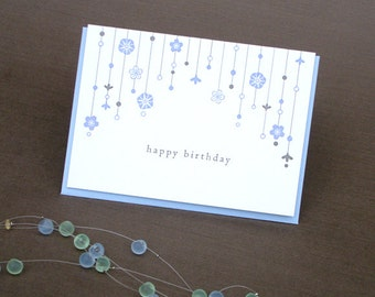 Mobile Letterpress Birthday Card