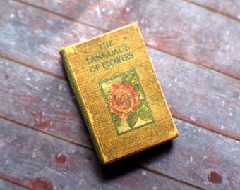 Miniature Book --- The Language of Flowers