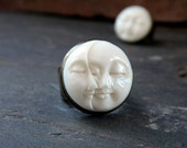 Moon Ring: Celestial Jewelry Man in the Moon Celestial Ring Bohemian Jewelry Moon Face Ring 2 Moon Ring Phases of the Moon Crescent Moon
