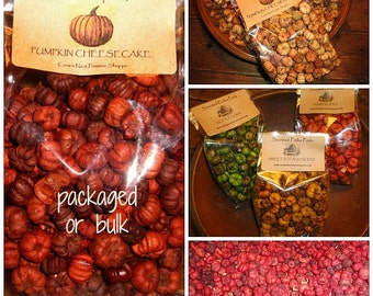 3 cup bag Primitive Pumpkin Pods also called Putka Pods Scented your choice as  potpourri packaged and bulk available for holiday decorating