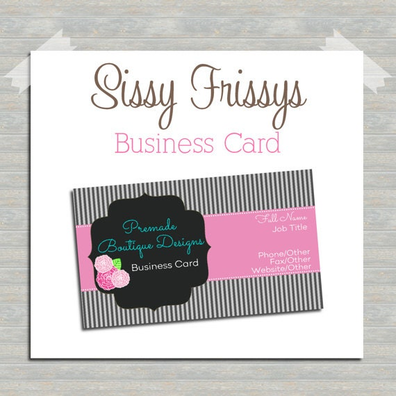 Business Card Digital File Business Card File by sissyfrissys