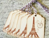 Tags French Eiffel Tower Gift Tags Price Tags Party Favor Treat Bag Tags T013