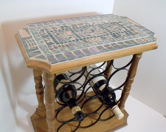 Mosaic Wine table or End Table