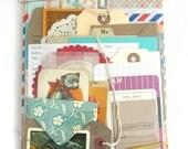 BUMPER Junk Journal Bundle of Envelopes, Tags, Vintage Paper, 50pcs, Journal Kit, Project Life, Smash Book Kit, Paper Ephemera, Envelopes