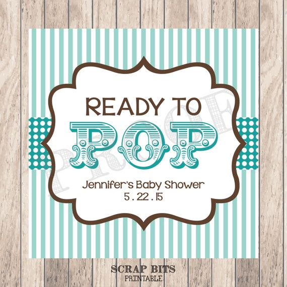 printable blue ready to pop circus theme personalized baby shower