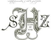CUSTOMIZABLE Monogram Photography Template - ROYALS - Photoshop .psd Template for Photographers and Scrapbookers.