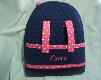 Doll Carrier in Navy with pink accents
