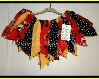 Minnie Mouse in Red,Black and Yellow Tutu Girls Size 4/5   Retro Fashion Hand Made  Ready To Ship Party Tutu