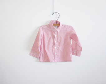 Vintage Red and White Pinstripe Baby Shirt