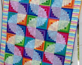 Wiggly Worms Log Cabin pattern (CLPJAW028)
