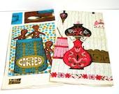 KayDee Linen Kitchen Dish Towels -  Gingerbread Men - Early American