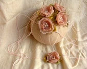 Dusty pink rose tie back, photo prop, newborn to toddler