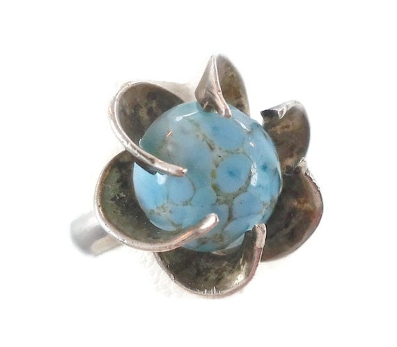 unusual stone set ring