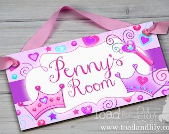 Diva Princess Girls Bedroom Baby Nursery Bedroom DOOR SIGN Wall Art Decor DS0153
