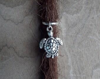 Sea Turtle Dreadlock Charm Bead  Accessory Extension Accessories Dread Boho Bohemian Hippie Silver Dangle