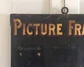 Antique Store Wood Picture Frames Sign a Rare Find