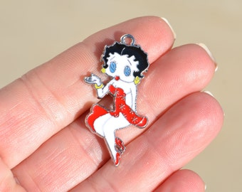 5 Betty Boop Charms SC2428