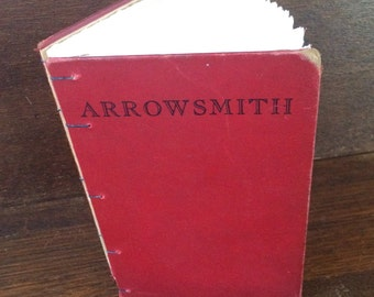 arrowsmith 1940 vintage repurposed hand made coptic stitch art journal notebook sketchbook diary